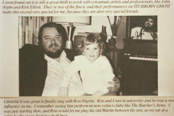 Photo - Norm and son Ben, from Stubborn Ghost album dedication, 1988